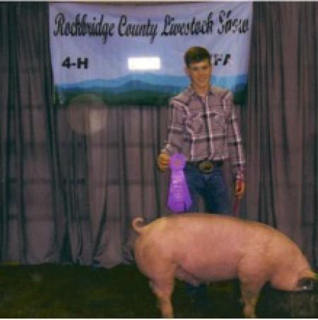 Chris Beard with the Grand Champion at the Rockbridge County Fair
