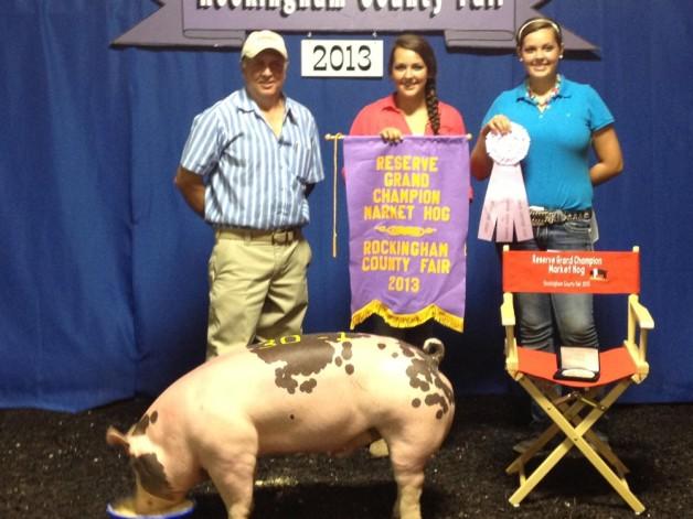 Reserve Champion Market Hog at the Rockingham County Fair