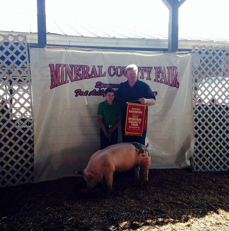 The Grand Champion Overall at the 2014 Mineral County, West Virginia 4-H Livestock Show