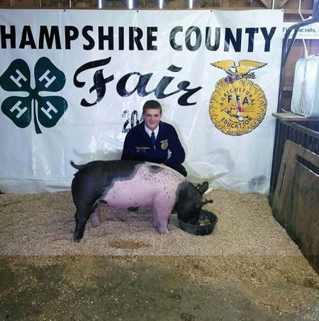 The Cookman Family with the Reserve Champion Overall at the 2014 Hampshire County, West Virginia 4-H Livestock Show