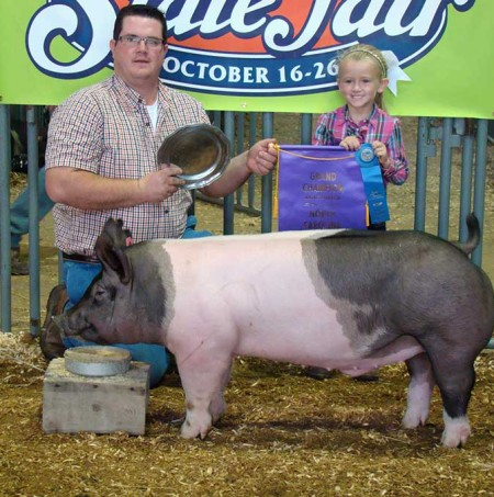 The Cox Family with the Grand Champion Overall at the 2014 NC State Fair