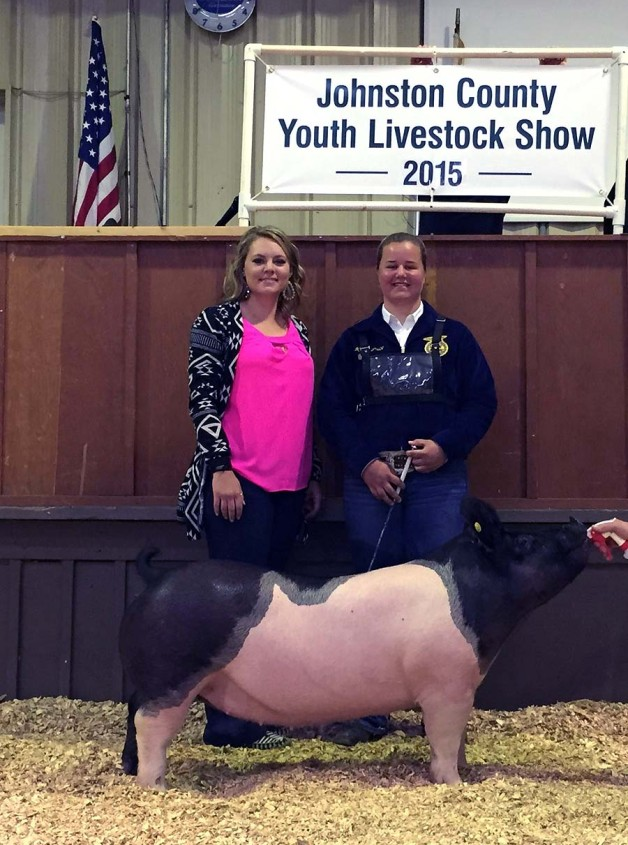 The Price Family with the Grand Champion at the 2015 Johnston County, NC Youth Livestock Show