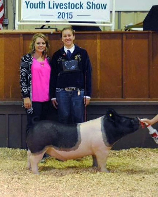 The Price Family with the Reserve Champion at the 2015 Johnston County, NC Youth Livestock Show