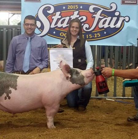Hannah Alexopoulos with the 3rd Overall Barrow at the 2015 NC State Fair
