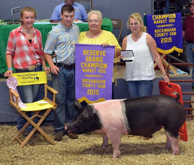Josh Hollway with the Reserve Champion Overall at the 2015 Rockingham County, VA 4-H Livestock Show