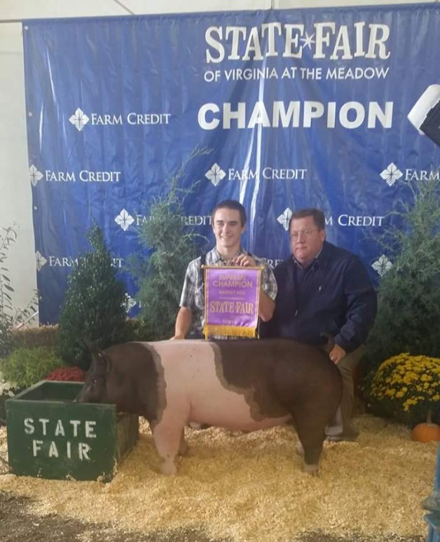 Parker Woodruff with the Grand Champion Overall at the 2015 VA State Fair
