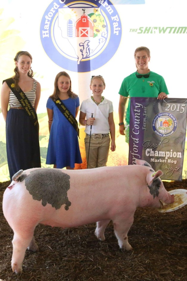 The Grimmel Family with the Grand Champion Overall at the 2015 Harford County, MD 4-H Livestock Show