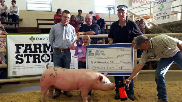 The Harris Family with the Grand Champion Overall at the 2015 , NC Mountain State Fair
