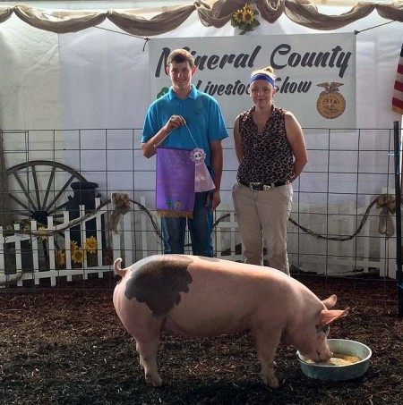 The Owens Family with the Reserve Champion Overall at the 2015 Mineral County , WVA 4-H Livestock Show