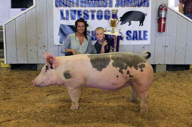 The Seal Family with the Grand Champion Overall at the 2015 NC Northwest Junior Livestock Show