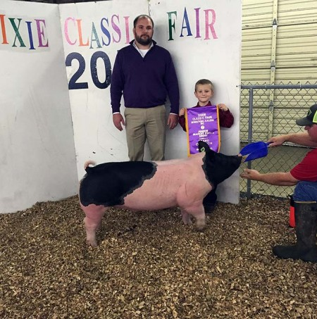 The Seal Family with the Grand Champion Overall at the 2015 NC Dixie Classic
