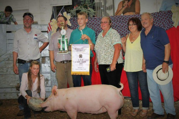 Will Clark with the Reserve Champion Overall at the 2015 C.M.R., VA Farm Show