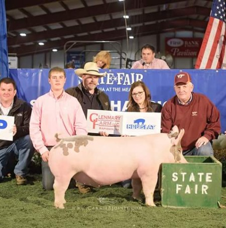 Zach McCall with the Reserve Champion Overall at the 2015 VA State Fair