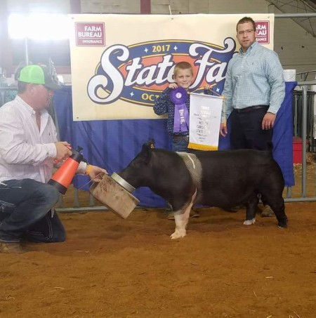 Ashton Seal with the 3rd Overall Barrow at the 2017 NC State Fair