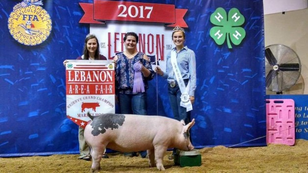 The Voight Family with the Reserve Champion at the 2017 Lebanon Co., PA Livestock Show
