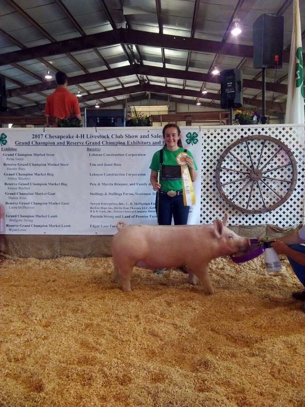 Emma Wachter with the 4th Overall at the 2018 Chesapeake, VA Livestock Show
