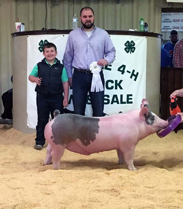 Gage Harris with the 3rd Overall at the 2018 Albemarle, NC 4-H Livestock Show