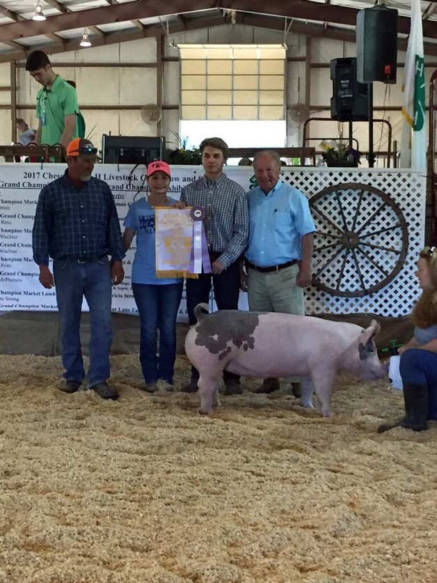 Jacob Higgerson with the 3rd Overall at the 2018 Chesapeake, VA Livestock Show