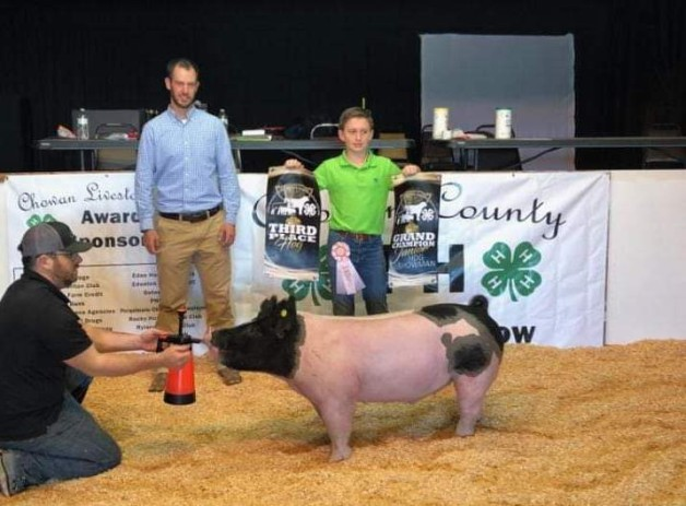 Maddox Bass with the 3rd Overall at the 2019 Chowan, NC Livestock Show