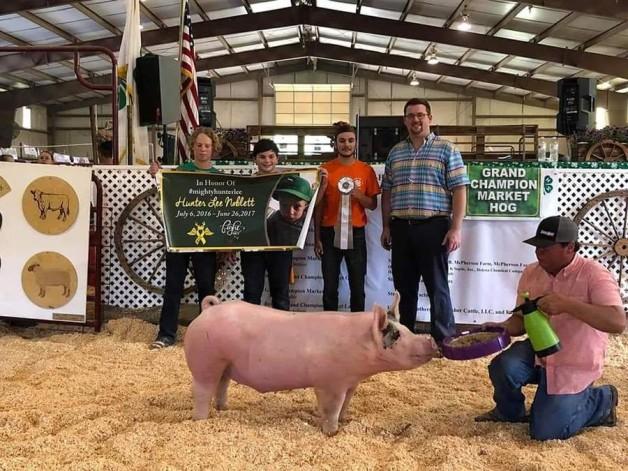 Nikolas Naas with the 3rd Overall at the 2019 Chesapeake, VA Livestock Show