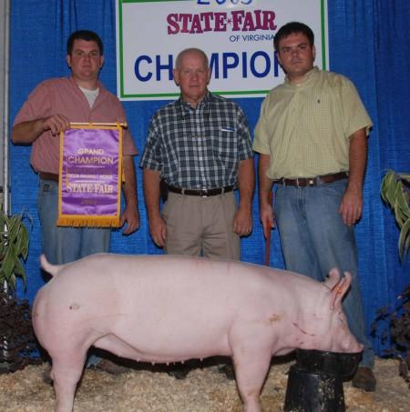 2009 Grand Champion Open Market Hogs Virginia State Fair