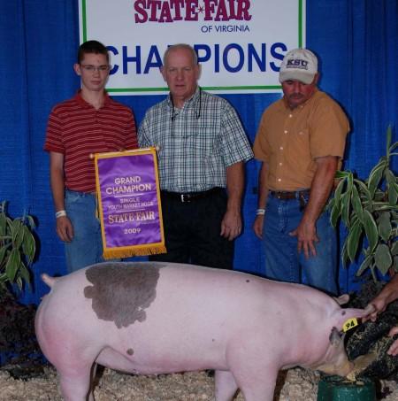 2009 Grand Champion Single Youth Market Hogs Virginia State Fair