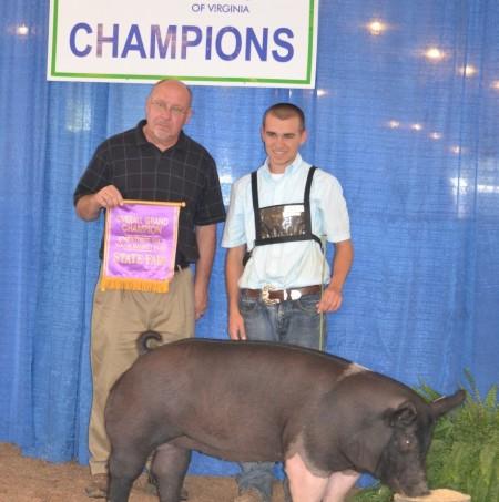 2011 Overall Grand Champion Breeding Gilt Virginia State Fair
