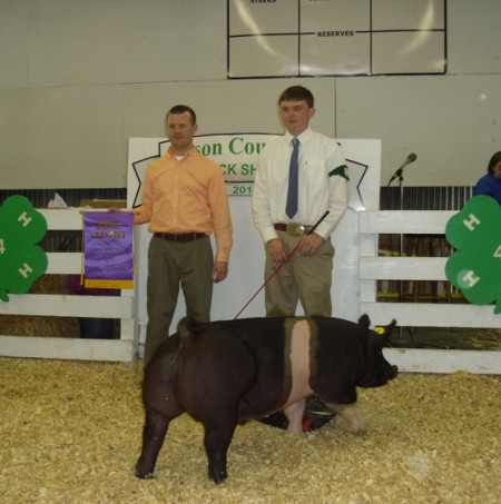 Frank Scott with the 2012 Grand Champion in Wilson, NC