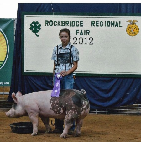 The Berry Family with the 2012 Grand Champion Market Hog at the Rockbridge Regional Fair