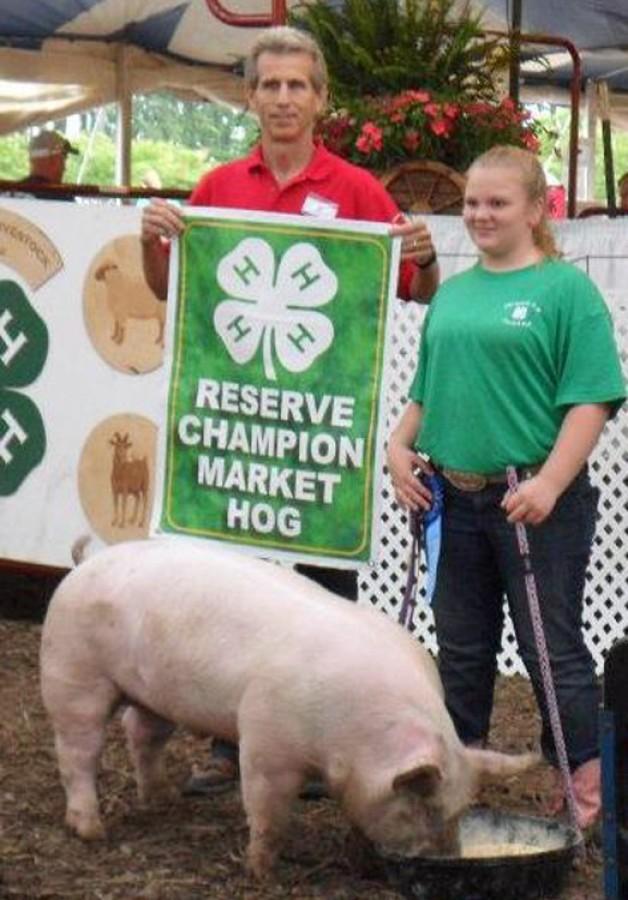 Reserve Champion Market Hog 2012 Chesapeake 4-H Livestock Show