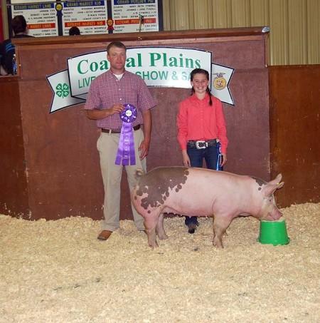 Grand Champion Market Hog at the 2012 Lenoir County, NC Costal Plains Livestock Show & Sale
